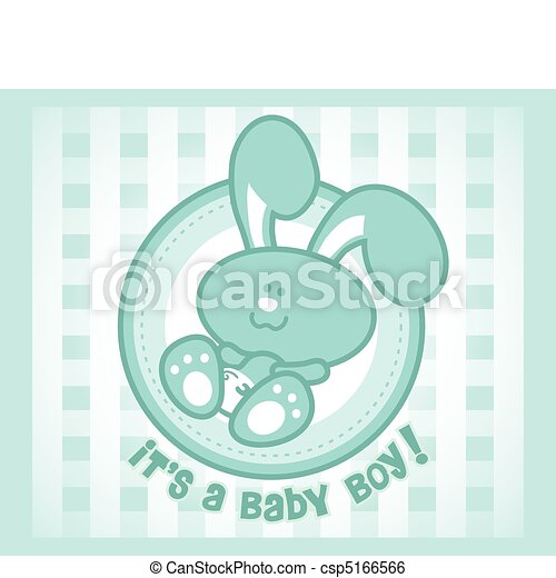 Cute baby bunny cartoon - male or boy version. - csp5166566