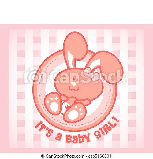 Cute baby bunny - female orgirl version.  - csp5166601