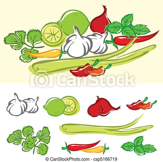 Fresh Cooking Ingredients - csp5166719
