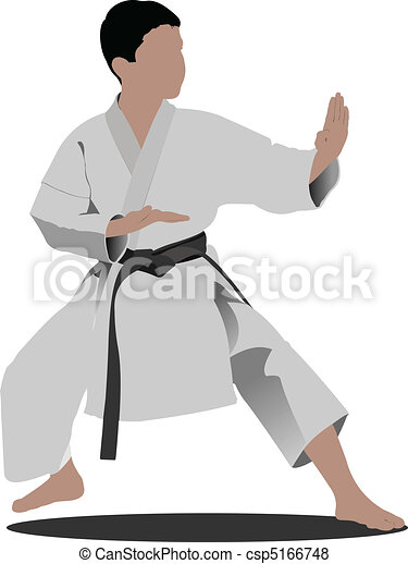 Karate. The sportsman in a positio - csp5166748