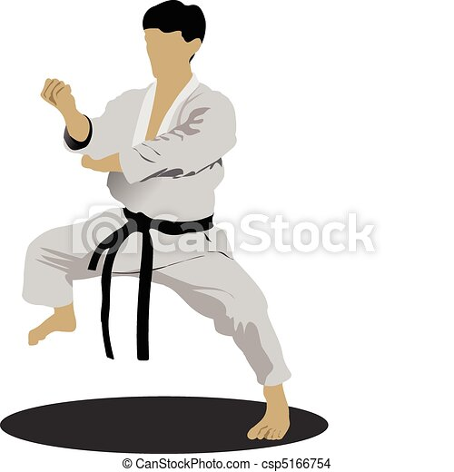 Karate. The sportsman in a positio - csp5166754