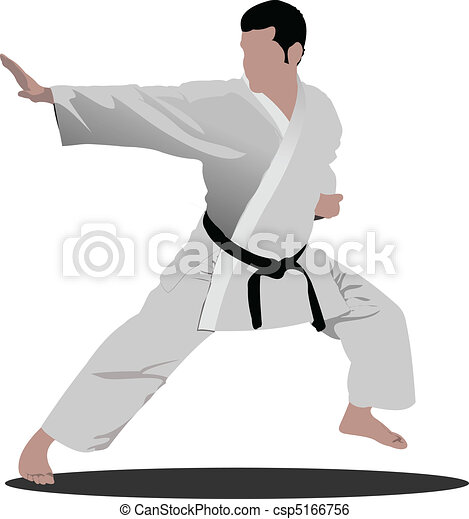 Karate. The sportsman in a positio - csp5166756