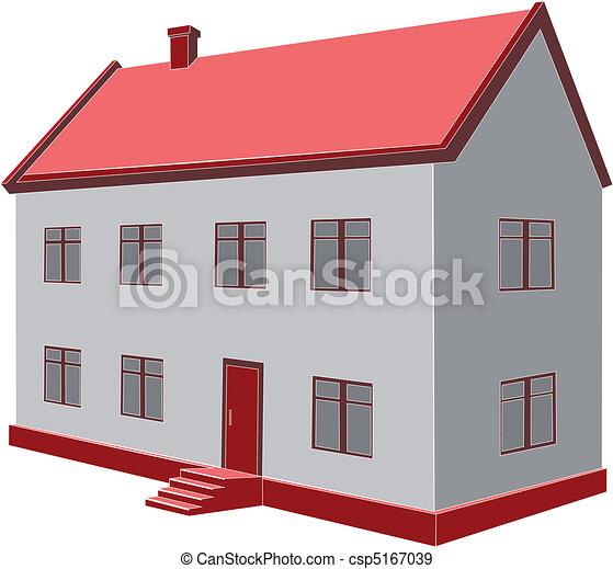 Vecteurs eps de maison vecteur vecteur 3d maison - Dessin 3d maison ...