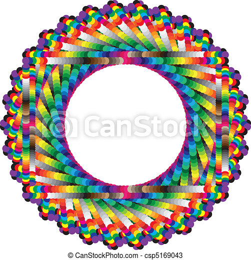 Endless vertigo, circular frame of colors - csp5169043