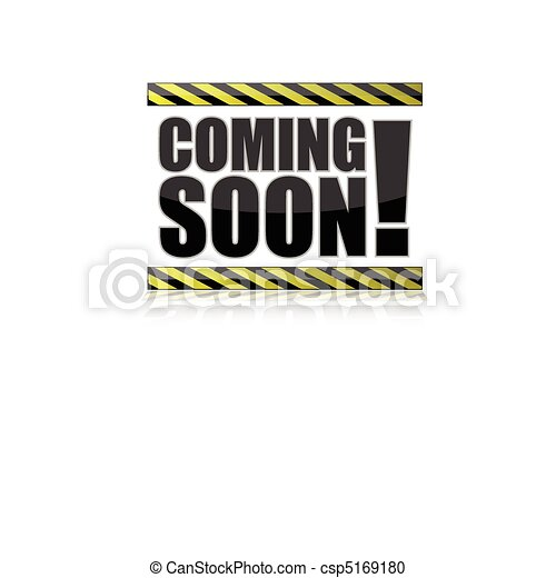 Vector Clipart of Coming Soon Sign illustration isolated over a ...