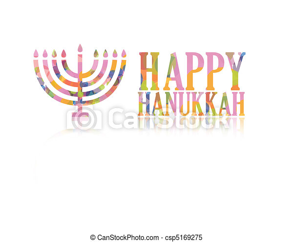 Happy hanukkah logo - csp5169275