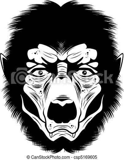 Werewolf Face - csp5169605