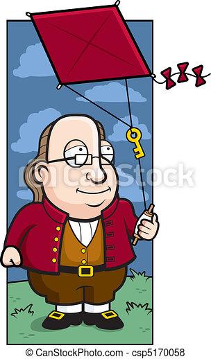 Ben Franklin Kite - csp5170058