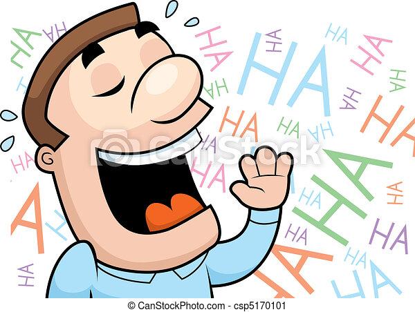 rire, homme - csp5170101