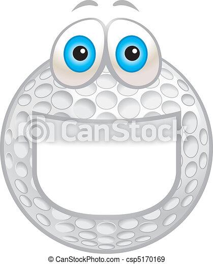 Golf Ball Smiling - csp5170169