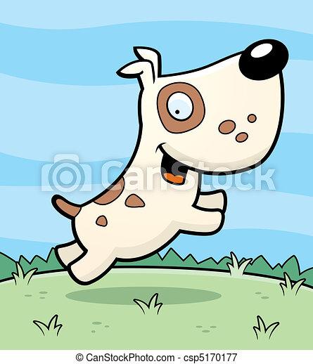 Happy Dog Jumping Dog Jumping Csp5170177