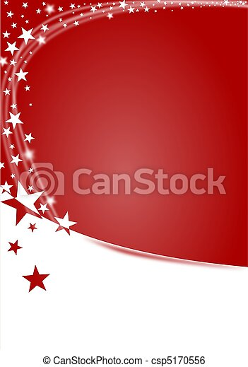Christmas background in red with stars