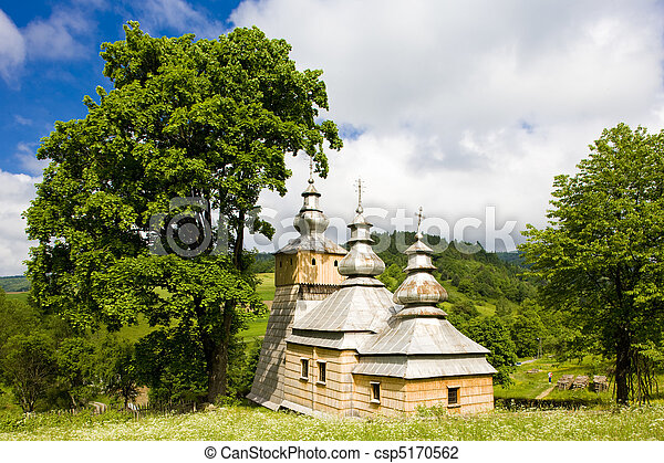 wooden church, Dubne, Poland - csp5170562
