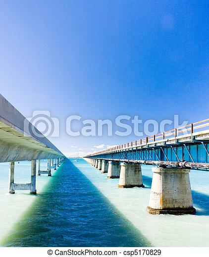 road bridges connecting Florida Keys, Florida, USA - csp5170829