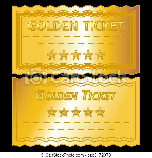 golden tickets - csp5172070