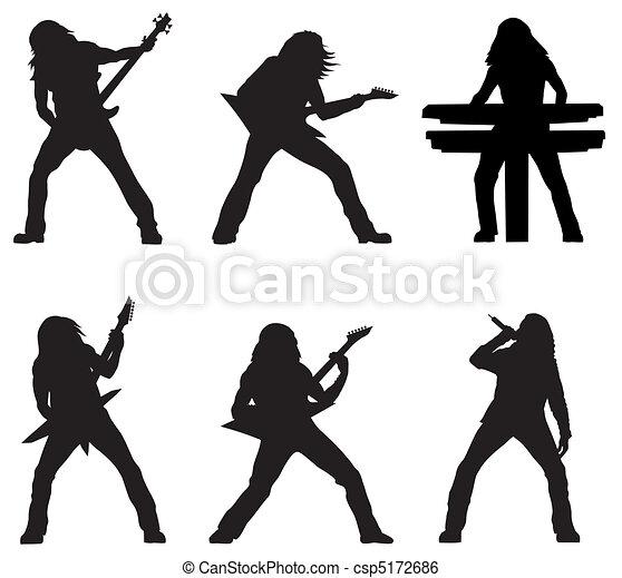 Rock musicians - csp5172686