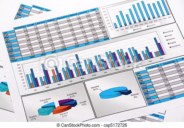 Annual Report. Graph. Diagram. Chart. Analisys. - csp5172726