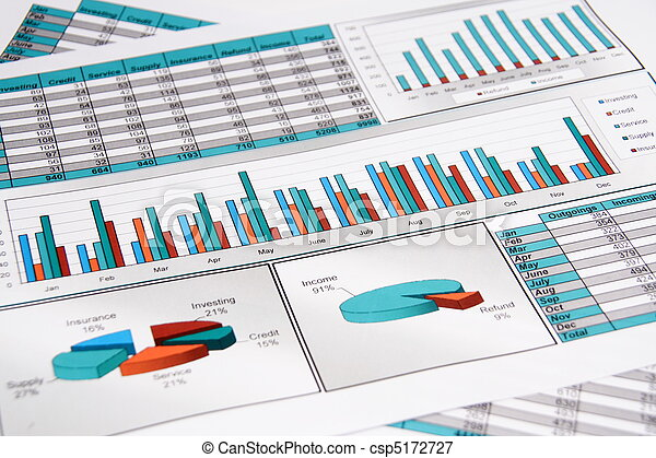 Annual Report. Graph. Diagram. Chart. Analisys. - csp5172727