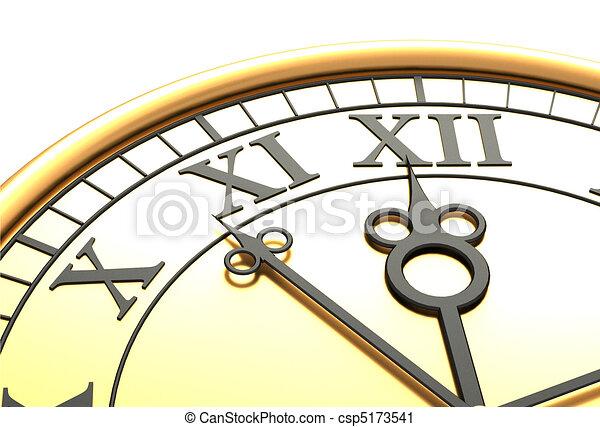 3d antique old clock - csp5173541