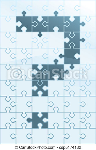 Question Mark Puzzle - csp5174132