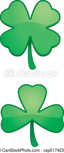 Cartoon Shamrock - csp5174239