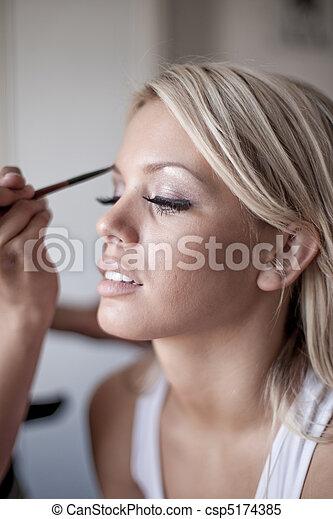 wedding make-up - csp5174385