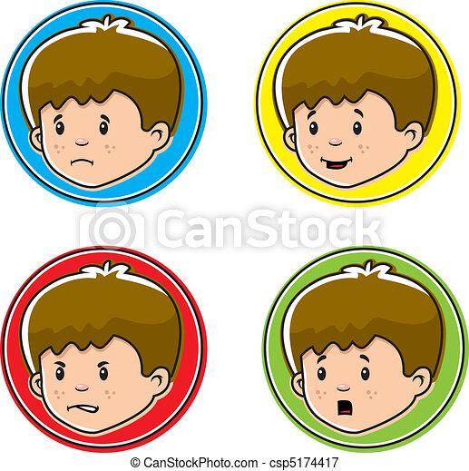 Boy Expressions - csp5174417