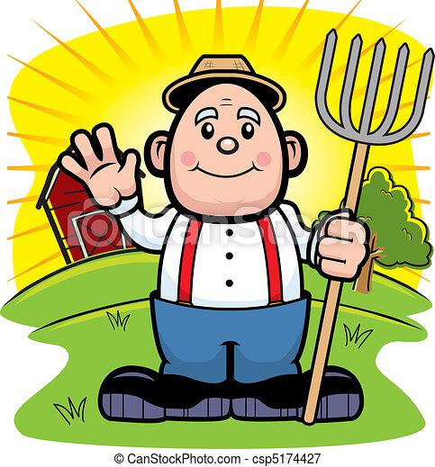 农夫卡通画_a, 卡通漫画, 农夫, 农场, 摇动