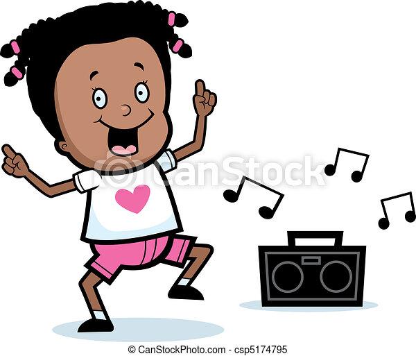 Dancing Girl Cartoon Images Girl Dancing a Happy Cartoon