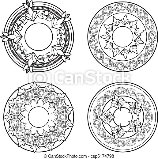 Ornate Circles - csp5174798