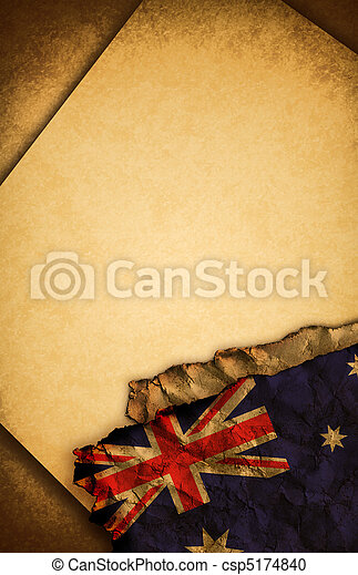 Australian flag and old paper - csp5174840