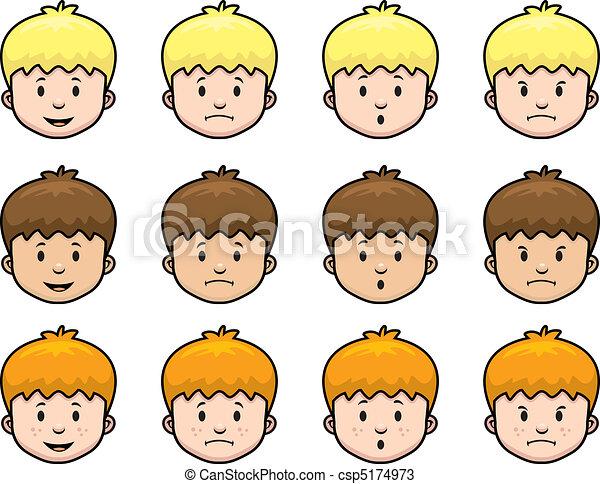 Boy Expressions - csp5174973