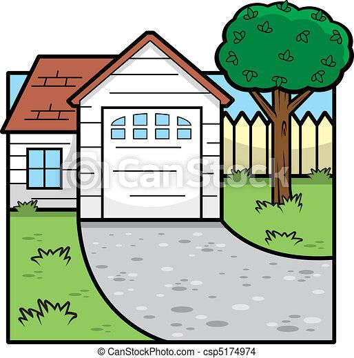 Cartoon House - csp5174974