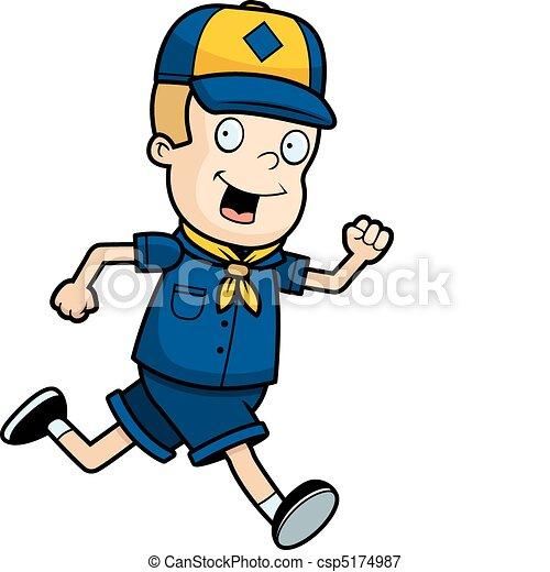 Scout Running - csp5174987