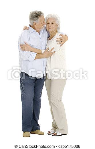 portrait of a happy couple of elderly - csp5175086