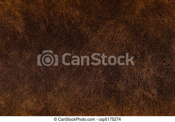 Texture of dark brown leather. - csp5175274