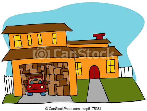 Clip art vecteur de encombr garage an image de a for Logos de garajes