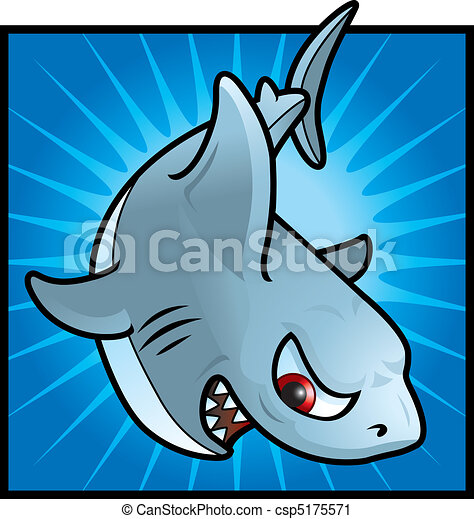 Angry shark clipart - photo#19