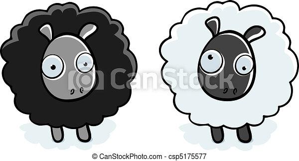 Cartoon Sheep - csp5175577
