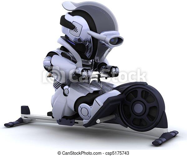 rowing machine - csp5175743