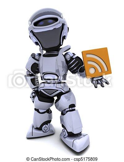 Robot with RSS symbol - csp5175809