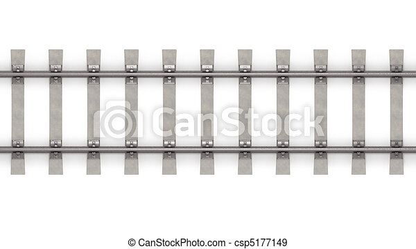 3d rails horizontal top view - csp5177149