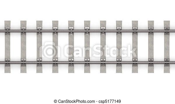 3d rails horizontal top view  - csp5177149