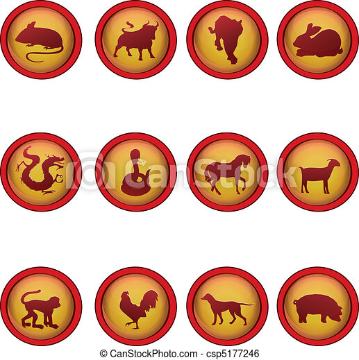 Chinese astrology - csp5177246