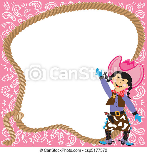 Cute Cowgirl Birthday Party  - csp5177572