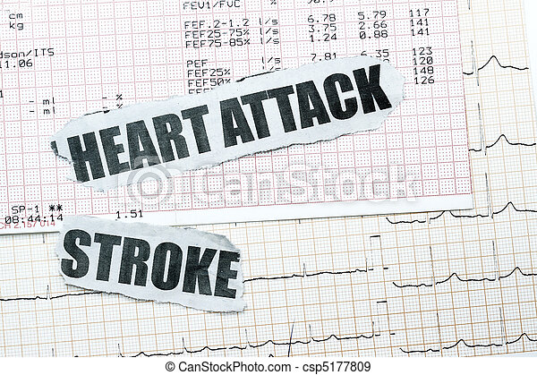 Heart attack and stroke - csp5177809