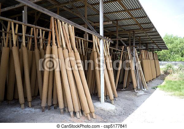 Traditional Joss Stick Factory - csp5177841