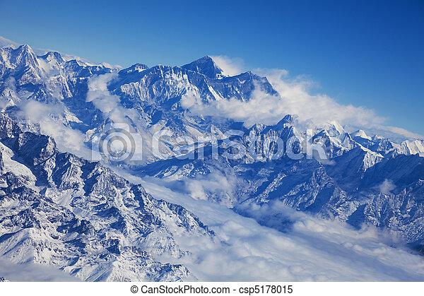 Himalayas and Mount Everest, Nepal - csp5178015