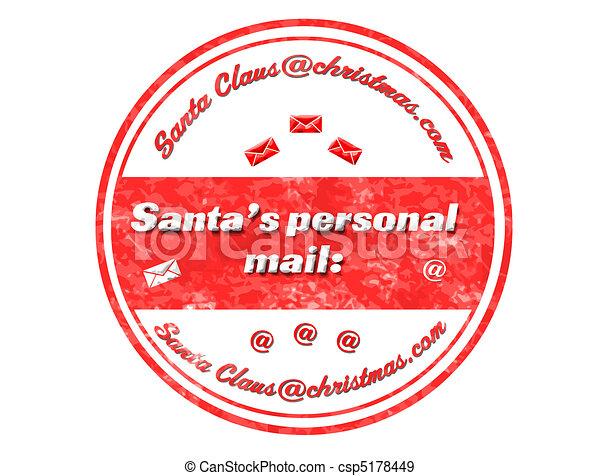 santa's personal mail stamp - csp5178449