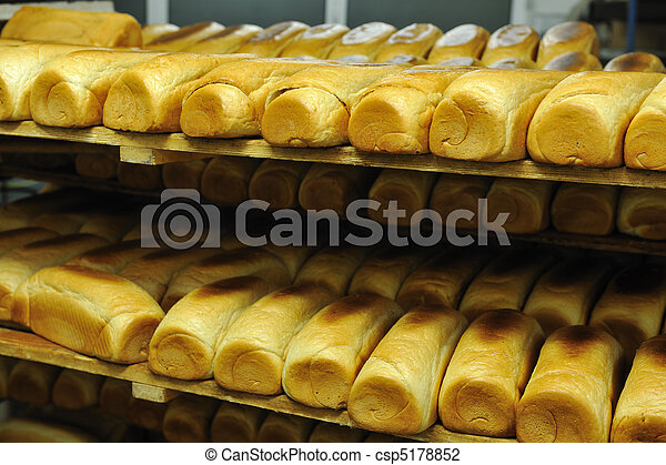 bread factory production - csp5178852